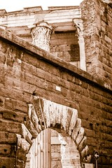 Forum of Nerva, Rome (wamcclung) Tags: rome roma architecture arch roman imperial classical column pediment