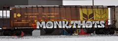 (LadyBench) Tags: train graffiti winnipeg rail monk freight fr8 thots ladybench mosthood