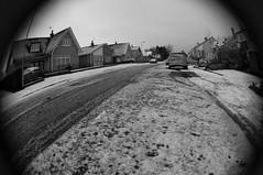W is for Winter (Gordon McKinlay) Tags: road street winter bw snow lensbaby scotland nikon glasgow w january frosty fisheye alphabet icy dslr clarkston d300s