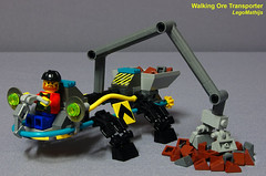 01_Walking_Ore_Transporter (LegoMathijs) Tags: 2 rock energy tipper lego crystal space scifi concept slope raiders miners moc ores legomathijs