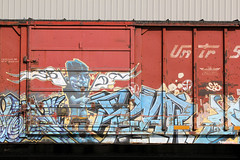 01182015 021 (CONSTRUCTIVE DESTRUCTION) Tags: train graffiti streak tag fear trains boxcar graff piece boxcars moniker