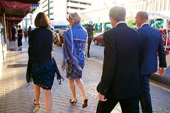 (heatherbirdtx) Tags: street wedding guests composition couple suits availablelight walk memphis tennessee candid strangers dresses wraps storytelling