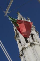 Contrastes (JSEBOUVI : 2 millions views !) Tags: blue red sky portugal azul vent photo torre tour wind lisboa lisbon ciel contraste ceu gree monastre vento lisbonne drapeau jsebouvi sbastienbouvier mai2014
