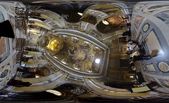Stitches of the Chiesa del Gesu, Rome, Italy interior: 360 degrees (SpirosK photography) Tags: italy rome roma church worship italia 360 chiesa 360degrees holyplace  chiesadelgesu