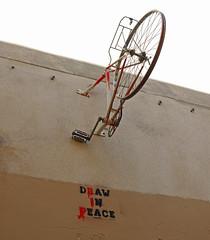 Draw In Peace RIP (cocabeenslinky) Tags: street city urban streetart paris france art bike bicycle wall lumix graffiti march stencil artist peace photos graf rip central panasonic charlie draw graff bicyclette vlo artiste in 2015 arrondissements hebdo dmcg6 cocabeenslinky