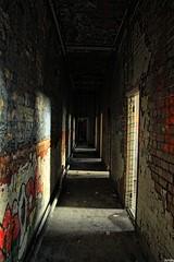 sketchy (dynaty) Tags: light shadow urban decay urbandecay spiderman corridor urbanexploration rays urbex urbexuk