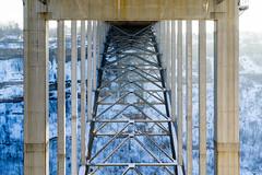 Lewiston-Queenston (Empty Quarter) Tags: new york morning bridge winter usa sun snow ny ontario canada cold ice river arch crossing state sony united border arc niagara symmetry falls states f4 lewiston 2470 queenston a7r