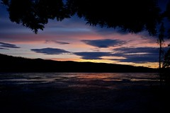 Sunset at Frozen Big Fox Lake (MIKOFOX  Thanks for Visiting!) Tags: sunset sky reflection tree ice clouds landscape evening spring yukon april spruce xt1 bigfoxlake fujifilmxt1