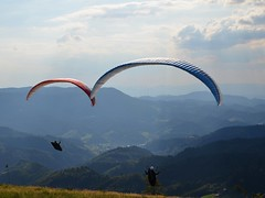 Paragliding! .. in Oppenau, Black Forest, Germany (m_lars_k) Tags: travel black forest photography flickr paragliding parapente gleitschirmfliegen oppenau
