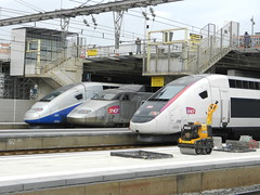 TGV trains at station of Montpellier (sander_sloots) Tags: station gare trains montpellier tgv sncf treinen