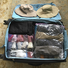 For Hiking (peaflockster) Tags: london england travel luggage suitcase packing