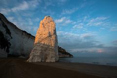 The white monolith (luigig75) Tags: sunset sea italy parco beach italia puglia vieste nazionale gargano 70d efs1022mmf3545usm pizzomunno