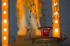 Lumire (3) Loin du tumulte / Far from the tumult (BLEUnord) Tags: lampion chandelle lumire light ampoules statue lampe lamp sanctuaire sanctuary symbole candel religieux religious