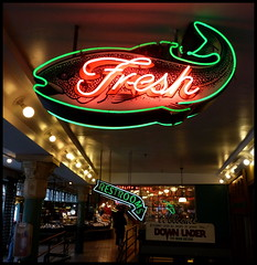 fresh (D G H) Tags: seattle fish sign downtown neon pikeplacemarket pikeplacepublicmarket daveheston