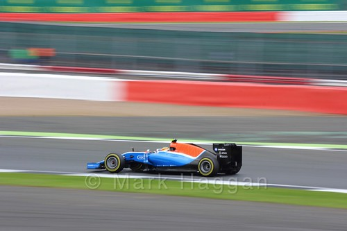 Pascal Wehrlein in his Manor during qualifying for the 2016 British Grand Prix