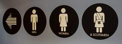 Men Women Scotsmen (Brian Travelling) Tags: loo men sign women symbol pentax toilet wc restroom symbols lavatory scotsmen pentaxdal pentaxkr