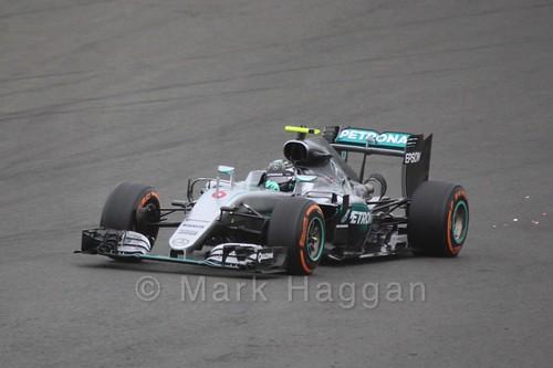 Nico Rosberg in his Mercedes in Free Practice 3 at the 2016 British Grand Prix