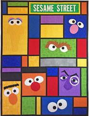 I Grew Up on the Street Custom Quilt by Whimzie Quiltz (whimziequiltz) Tags: sesamestreet