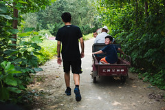 Nephew (Dizzodin) Tags: china travel east asia culture landscape journey family nephew cart rural home wuhan hubei hanchuan trees nature youth childhood summer