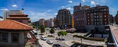 Panoramica alrededores de la Estacion de RENFE en la Calle de Uria de Oviedo, Principado de Asturias, Espaa. (RAYPORRES) Tags: espaa asturias julio oviedo 2016 principadodeasturias estacionderenfe calledeuria calleviaductomarquina