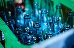 Empty bottles (ericbeaume) Tags: blue green glass 50mm nikon bottles perrier 18g d5100 ericbeaume
