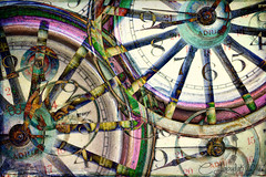 TheWheelsOfTime (clabudak) Tags: abstract clock time modernart wheels