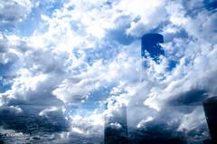 Frankfurt (tina djebel) Tags: stadt city town frankfurt westhafen mehrfachbelichtung abstrakt multiple exposure wolken cloud clouds verfremdet
