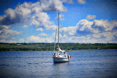 A Quiet Day on the Ottawa (Brian 104) Tags: ottawariver sailboat clouds summer anchored