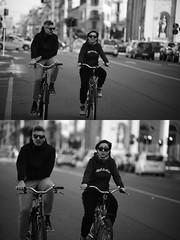 [La Mia Citt][Pedala] (Urca) Tags: milano italia 2016 bicicletta pedalare ciclista ritrattostradale portrait dittico bike bicycle biancoenero blackandwhite bn bw 872156
