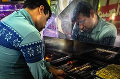 (TaMiMi Q8) Tags:    people kebab kabab mashhad iran reflection