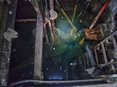 Flooded Hydro Electric Turbine Room, UK, jcw1967, OPE, 30072016 (2) (jcw1967) Tags: hydroelectric hydro historical flooded underwater urban exploration urbanexploration abandoned hdr