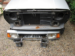 IMG_0462 1979 Volvo 343, unexpected manglement behind the bumper (robsue888) Tags: volvo343dl merseyside 1979