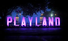 Playland's New Neon Sign! (floralgal) Tags: playland playlandneonsign playlandamusementparkryenewyork ryenewyork beach ocean longislandsound neonsign