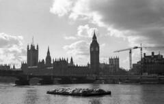 Parliament View | circa 1996 (James_Beard) Tags: housesofparliament palaceofwestminster bigben portcullishouse thames london londonskyline londonlandmarks pentaxmesuper 35mmfilm film analoguephotography epsonv550