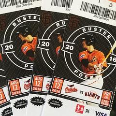 SF Giants game tonight with my boys. :) (Thomas Hawk) Tags: giants sfgiants sanfranciscogiants sanfrancisco baseball tickets busterposey california usa unitedstates orioles baltimoreorioles fav10 fav25 fav50
