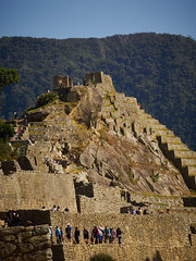 Machu Picchu (Lesmacphotos) Tags: machupicchu peru inca inka stone masonry hills mountains walls steps stairs green