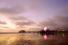 I had another go at the pier today (matt watkinson) Tags: california sunset beach canon la pier losangeles santamonica sony pacificocean 24mm a7 tse tiltshift