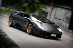 Lamborghini Murcielago (Ben Molloy Automotive Photography) Tags: hk black car photography gold ben o wheels automotive hong kong vehicle shek molloy lamborghini matte murcielago
