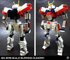 BG-011B Build Burning Gundam (Commander626) Tags: robot lego hard suit burning fighters try build combat gundam mech