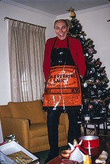 Gift for the Cook who has Everything (dnskct) Tags: christmas xmas family orange film kodak apron gift kodachrome slides yonkers 1973 transparencies worcestershiresauce leaperrins 1222014 december22014