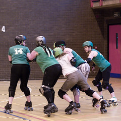 Room for a small one? (sk8geek) Tags: 14 rollerderby skaters carrie 74 85 19 72 ju jammer redfern blockers knuckledusternat glamjouster