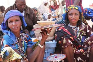 Peuhl women at Kri Kri market