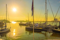 Sunset at Gunwharf Quays, Portsmouth, Hampshire (JackPeasePhotography) Tags: sunset tower boats dock ships portsmouth quays gunwharf