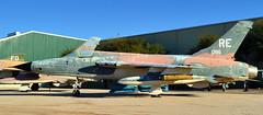 Republic F-105D Thunderchief supersonic fighter-bomber - Pima Air & Space Museum, Tucson, Arizona (edk7) Tags: arizona usa plane airplane republic tucson aircraft aviation military jet usaf coldwar supersonic tactical unitedstatesairforce pimaairspacemuseum fighterbomber thunderchief f105d 2013 d3200 arizonaaerospacefoundation 610086 edk7 prattwhitneyj75p19wturbojet26400lbthrustwithafterburner