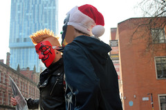Anonymous Manchester Scientology Protest December 2014 (strobe-) Tags: christmas manchester protest scientology cult activism anonymous churchofscientology dianetics deansgate projectchanology chanology scientologymanchester anonymousmanchester
