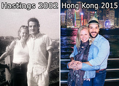 2002 > 2015 (Ben Heine) Tags: life china uk family famille love smile sepia youth contrast happy hongkong hug couple emotion time young evolution lovers special blessing together amour change marta hastings ensemble feelings vie copyr
