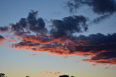 Evening Clouds (thomas.hartmann496) Tags: pink blue sunset red sky orange weather clouds dark evening photo glowing lit