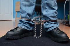 DSC_2570 (Chris A. Mitchell) Tags: boots bondage legirons dannerrecon