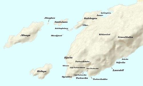 """Stedsnavn på Hjertøya Her er 4 kartskisser som viser forskjellige stedsnavn på Hjertøya. Noen navn har jeg hørt muntlig, mens de andre har jeg fra forskjellige utskiftninger/skylddelinger både på Hjertøy nordre og Hjertøy søndre. Dersom noen har flere nav <a style=""""margin-left:10px; font-size:0.8em;"""" href=""""http://www.flickr.com/photos/110173116@N08/16234536130/"""" target=""""_blank"""">@flickr</a>"""