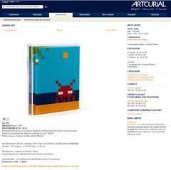 Space Invader Auction (THEfunkyman) Tags: money art price sale auction space invader vente faved artcurial